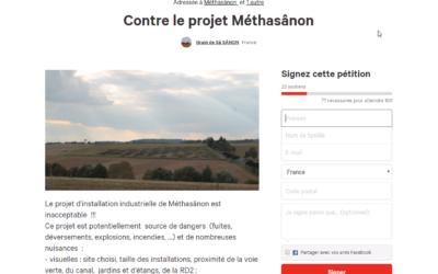 La pétition : Non à méthasânon !